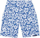 Jo-Jo JoJo Maman Bebe Bermuda Shorts (Toddler/Kid) - Blue Hawaiian-3-4