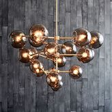 west elm Staggered Glass Chandelier - 19-Light