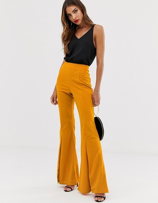 AX Paris 2 in 1 flared pants jumpsuit-Yellow