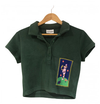 Carne Bollente Green Polyester Tops