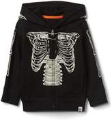Gap Halloween glow-in-the-dark skeleton zip hoodie