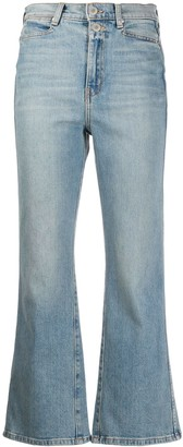 Proenza Schouler White Label Cropped Flared Mid-Rise Jeans