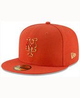 New Era New York Mets Team On Metallic 59FIFTY Cap