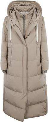 Brunello Cucinelli Double-layered Zip Padded Long Jacket