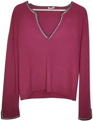 Alberta Ferretti Burgundy Silk Top for Women