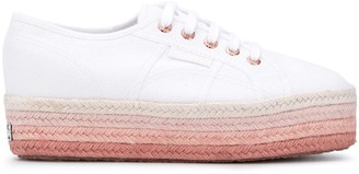 Superga Gradient-Effect Raffia-Sole Sneakers