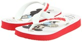 Havaianas Disney Stylish (Toddler/Youth) (Red/White) - Footwear