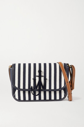 J.W.Anderson Anchor Nano Striped Canvas And Leather Shoulder Bag