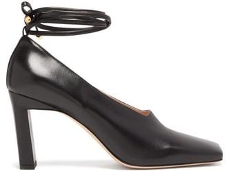 Wandler Isa Wraparound Leather Pumps - Womens - Black