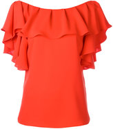 P.A.R.O.S.H. ruffled neck blouse - women - Polyester - XS