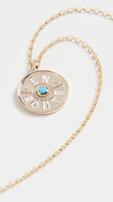 Marlo Laz 14k En Route Mini Coin Necklace