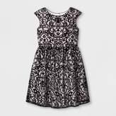 mia & mimi Girls' Mia & Mimi Printed Dressy Dress - Black