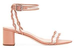 Loeffler Randall Women's Emi Scallop Leather & PVC Sandals
