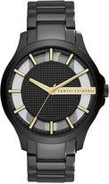 Armani Exchange A X Men's Hampton Black-Tone Stainless Steel Bracelet Watch 46mm AX2192