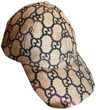 Gucci Beige Wicker Hats & pull on hats
