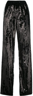 Alberta Ferretti Sequin Side Striped Track Pants