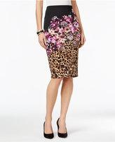Thalia Sodi Mixed-Print Pencil Skirt, Only at Macy's