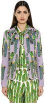 Sanchita Cactus Embroidered Cotton Organdy Jacket