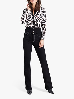 Damsel in a Dress Desi Zebra Cardigan, Black/White