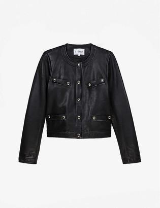 Claudie Pierlot Caroussele straight-cut leather jacket