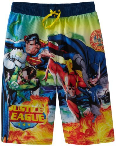 Justice DC Comics Boys 2-7 League Swim Trunk
