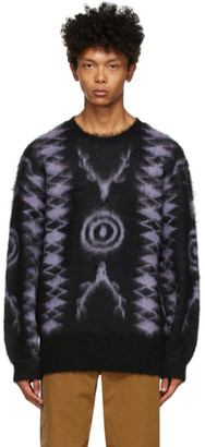 South2 West8 Black and Purple Mohair Sweater