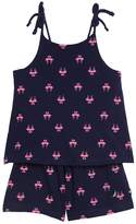 Nautica Baby Girls' Printed Romper with Rope Straps