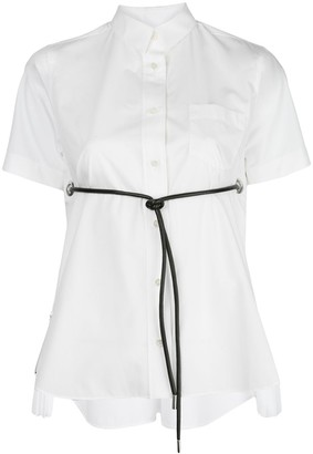 Sacai Front-Tie Short Sleeve Shirt