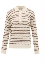 Giuliva Heritage Collection The Emera Striped Silk-blend Polo Shirt - Womens - Beige