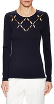 Bailey 44 Laser Cut Crewneck Top