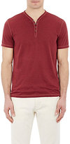 Star Usa John Varvatos John Varvatos STAR U.S.A. MEN'S BURNOUT SNAP-FRONT HENLEY-RED SIZE M