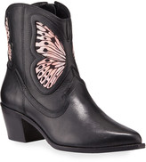 Sophia Webster Shelby Leather Butterfly Booties