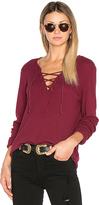 Michael Stars Long Sleeve Tie Neck Top