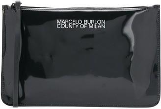 Marcelo Burlon County of Milan PVC zipped clutch bag