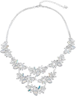 Simulated Crystal Bib Statement Necklace