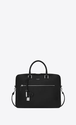 Saint Laurent Sac De Jour Briefcase In Grained Leather Black Onesize