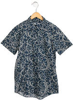 Versace Boys' Printed Button-Up Shirt w/ Tags