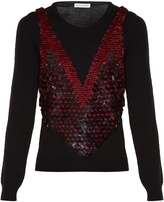 Altuzarra Powell sequinned wool sweater
