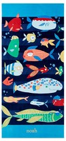 Pottery Barn Kids Funny Fish Kid Beach Towel, Multi