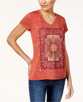 Style&Co. Style & Co Graphic High-Low Hem T-Shirt, Created for Macy's