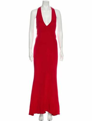 Cushnie Silk Long Dress Red