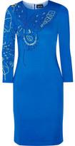 Just Cavalli Studded Stretch-Jersey Dress