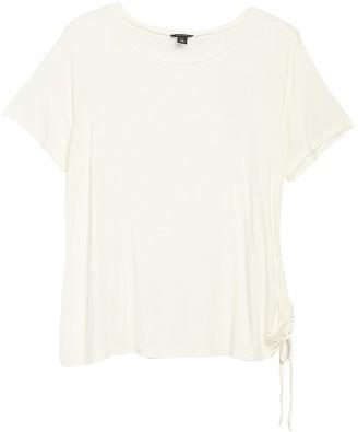 Halogen Solid Cinching Drawstring Tie T-Shirt (Plus Size)