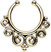 Body Candy Tempest of Swirls Non Pierced Clip On Septum Ring