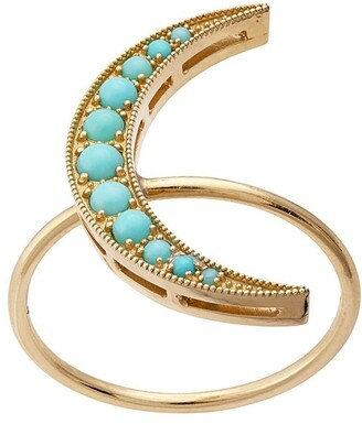Andrea Fohrman 18kt yellow gold medium Luna turquoise ring