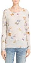 Joie Eloisa Butterfly Print Cashmere Sweater