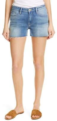 Frame Le Grand Garcon High Waist Cutoff Denim Shorts (Underground)