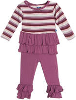 Kickee Pants Kickeepants Girls' Double Ruffle Outfit Set