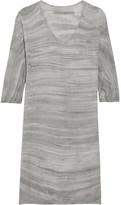 Raquel Allegra Tie-dyed Cotton Mini Dress - Gray