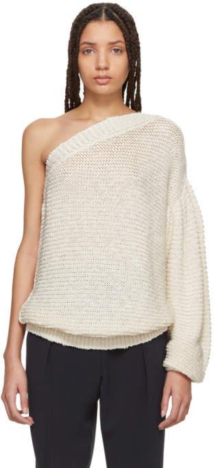 Stella McCartney Beige Single-Sleeve Sweater